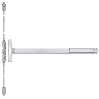 TSFL2608LBR-625-48 PHI 2600 Series Fire Rated Concealed Vertical Rod Exit Device with Touchbar Monitoring Switch Prepped for Key Controls Lever in Bright Chrome Finish