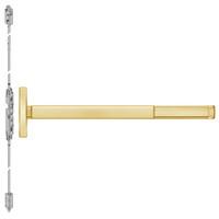 TSFL2614LBR-605-48 PHI 2600 Series Fire Rated Concealed Vertical Rod Exit Device with Touchbar Monitoring Switch Prepped for Lever Always Active in Bright Brass Finish