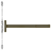 TSFL2614LBR-613-48 PHI 2600 Series Fire Rated Concealed Vertical Rod Exit Device with Touchbar Monitoring Switch Prepped for Lever Always Active in Oil Rubbed Bronze Finish