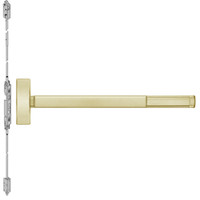 TSFL2815LBR-606-48 PHI 2800 Series Fire Rated Concealed Vertical Rod Exit Device with Touchbar Monitoring Switch Prepped for Thumbpiece Always Active in Satin Brass Finish