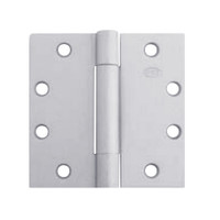 3CB1-4-5x4-652 IVES 3 Knuckle Concealed Bearing Full Mortise Hinge in Satin Chrome Plated