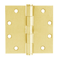 5PB1-3-5x3-5-632 IVES 5 Knuckle Plain Bearing Full Mortise Hinge in Bright Brass Plated