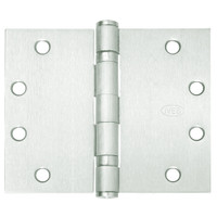 5BB1WT-4-5x5-646 IVES 5 Knuckle Ball Bearing Full Mortise Wide Throw Hinge in Satin Nickel Plated