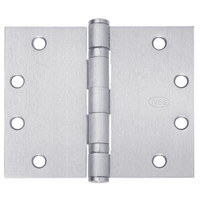 5BB1WT-5x7-652 IVES 5 Knuckle Ball Bearing Full Mortise Wide Throw Hinge in Satin Chrome Plated