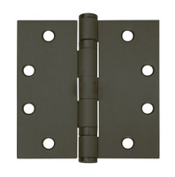5BB1-4x4-641-NRP IVES 5 Knuckle Ball Bearing Full Mortise Hinge in Oxidized Satin Bronze