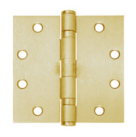 5BB1-5x4-5-633-NRP IVES 5 Knuckle Ball Bearing Full Mortise Hinge in Satin Brass Plated