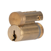 23-030C124-606 Schlage Lock Conventional Full Size Interchangeable Core in Satin Brass