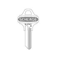 35-009C125 Schlage Lock Key Blank Standard Embossed Key