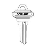 35-100-K Schlage Lock Key Blank Standard Bow Embossed Both Sides