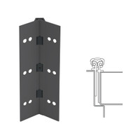 026XY-315AN-120-HT IVES Full Mortise Continuous Geared Hinges with Hospital Tip in Anodized Black