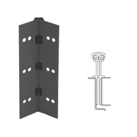 040XY-315AN-85-HT IVES Full Mortise Continuous Geared Hinges with Hospital Tip in Anodized Black