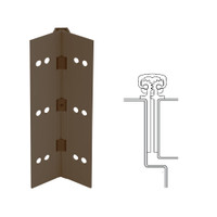 112XY-313AN-120-HT IVES Full Mortise Continuous Geared Hinges with Hospital Tip in Dark Bronze Anodized