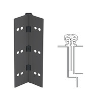 112XY-315AN-83-HT IVES Full Mortise Continuous Geared Hinges with Hospital Tip in Anodized Black