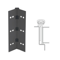 114XY-315AN-85-HT IVES Full Mortise Continuous Geared Hinges with Hospital Tip in Anodized Black