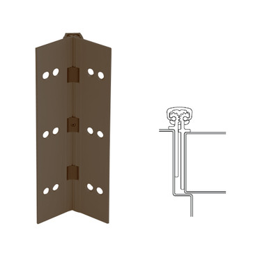 026XY-313AN-83-EPT IVES Full Mortise Continuous Geared Hinges with Electrical Power Transfer Prep in Dark Bronze Anodized