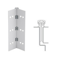 112XY-US28-120-EPT IVES Full Mortise Continuous Geared Hinges with Electrical Power Transfer Prep in Satin Aluminum