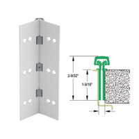 112HD-US28-95-EPT IVES Full Mortise Continuous Geared Hinges with Electrical Power Transfer Prep in Satin Aluminum