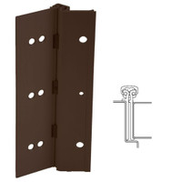 224XY-313AN-85-SECHM IVES Adjustable Full Surface Continuous Geared Hinges with Security Screws - Hex Pin Drive in Dark Bronze Anodized