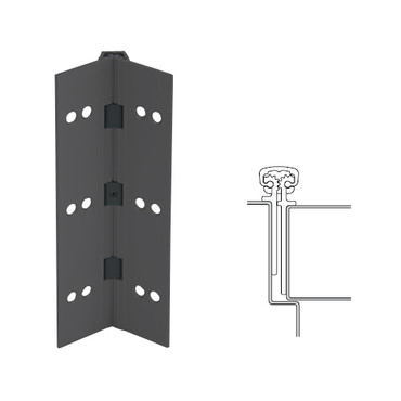 026XY-315AN-95-SECWDHM IVES Full Mortise Continuous Geared Hinges with Security Screws - Hex Pin Drive in Anodized Black