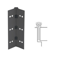 027XY-315AN-85-SECWDHM IVES Full Mortise Continuous Geared Hinges with Security Screws - Hex Pin Drive in Anodized Black
