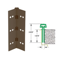 112HD-313AN-120-SECWDHM IVES Full Mortise Continuous Geared Hinges with Security Screws - Hex Pin Drive in Dark Bronze Anodized