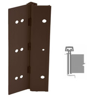 224HD-313AN-85-SECWDHM IVES Full Mortise Continuous Geared Hinges with Security Screws - Hex Pin Drive in Dark Bronze Anodized