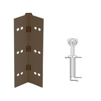 040XY-313AN-120-SECWDHM IVES Full Mortise Continuous Geared Hinges with Security Screws - Hex Pin Drive in Dark Bronze Anodized
