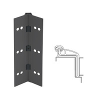 041XY-315AN-83-SECWDHM IVES Full Mortise Continuous Geared Hinges with Security Screws - Hex Pin Drive in Anodized Black