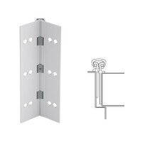 026XY-US28-120-WD IVES Full Mortise Continuous Geared Hinges with Wood Screws in Satin Aluminum