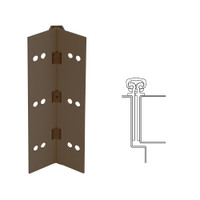 027XY-313AN-95-WD IVES Full Mortise Continuous Geared Hinges with Wood Screws in Dark Bronze Anodized