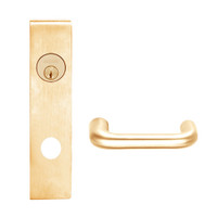 L9050P-03L-612 Schlage L Series Entrance Commercial Mortise Lock with 03 Cast Lever Design in Satin Bronze