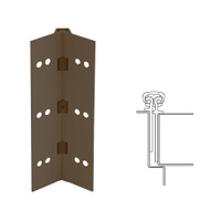 026XY-313AN-85-TEKWD IVES Full Mortise Continuous Geared Hinges with Wood Screws in Dark Bronze Anodized