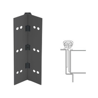 026XY-315AN-85-TEKWD IVES Full Mortise Continuous Geared Hinges with Wood Screws in Anodized Black