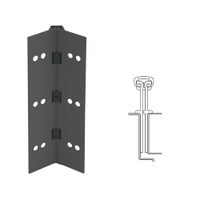 040XY-315AN-85-TEKWD IVES Full Mortise Continuous Geared Hinges with Wood Screws in Anodized Black