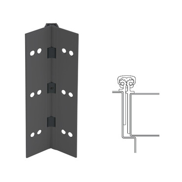 026XY-315AN-83-TFWD IVES Full Mortise Continuous Geared Hinges with Thread Forming Screws in Anodized Black