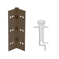 112XY-313AN-120-TFWD IVES Full Mortise Continuous Geared Hinges with Thread Forming Screws in Dark Bronze Anodized