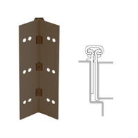 114XY-313AN-120-TFWD IVES Full Mortise Continuous Geared Hinges with Thread Forming Screws in Dark Bronze Anodized