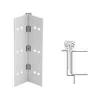 026XY-US28-120-SECWDWD IVES Full Mortise Continuous Geared Hinges with Security Screws - Hex Pin Drive in Satin Aluminum