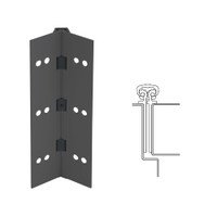 027XY-315AN-83-SECWDWD IVES Full Mortise Continuous Geared Hinges with Security Screws - Hex Pin Drive in Anodized Black
