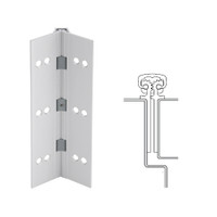 112XY-US28-120-SECWDWD IVES Full Mortise Continuous Geared Hinges with Security Screws - Hex Pin Drive in Satin Aluminum