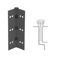 112XY-315AN-95-SECWDWD IVES Full Mortise Continuous Geared Hinges with Security Screws - Hex Pin Drive in Anodized Black