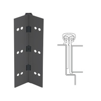 114XY-315AN-83-SECWDWD IVES Full Mortise Continuous Geared Hinges with Security Screws - Hex Pin Drive in Anodized Black
