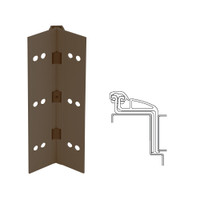 041XY-313AN-85-SECWDWD IVES Full Mortise Continuous Geared Hinges with Security Screws - Hex Pin Drive in Dark Bronze Anodized