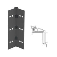 041XY-315AN-83-SECWDWD IVES Full Mortise Continuous Geared Hinges with Security Screws - Hex Pin Drive in Anodized Black