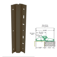 157XY-313AN-119-SECWDWD IVES Adjustable Full Surface Continuous Geared Hinges with Security Screws - Hex Pin Drive in Dark Bronze Anodized
