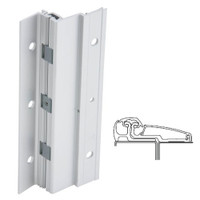210XY-US28-85-SECWDWD IVES Adjustable Full Surface Continuous Geared Hinges with Security Screws - Hex Pin Drive in Satin Aluminum