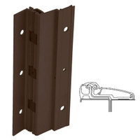 210XY-313AN-120-SECWDWD IVES Adjustable Full Surface Continuous Geared Hinges with Security Screws - Hex Pin Drive in Dark Bronze Anodized