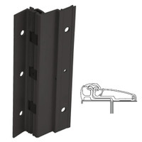 210XY-315AN-120-SECWDWD IVES Adjustable Full Surface Continuous Geared Hinges with Security Screws - Hex Pin Drive in Anodized Black