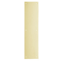 8200-US4-3-5x15 IVES Architectural Door Trim 3.5x15 Inch Push Plate in Satin Brass