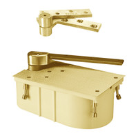 """PH27-90S-RH-605 Rixson 27 Series Heavy Duty 3/4"""" Offset Hung Floor Closer with Physically Handicapped Opening Force in Bright Brass Finish"""